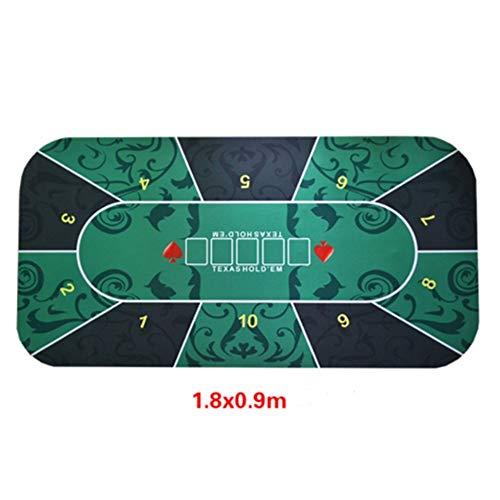 Vobajf Poker Table Mat Professionelle Rubber Foam Poker Table Top Layout-Poker-Tisch-Matte mit Schultertasche 180x90cm Spieltisch Zubehör (Farbe : 3, Size : 180x90cm)