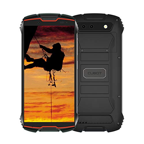 CUBOT King Kong Mini 4G Dual SIM Telefono Móvil Libre Antigolpes IP65 4.0 Pulgadas, 3GB RAM y 32GB ROM, Android 9.0, 2000mAh Batería Type-C, Resistentes Dual Cámara 13MP+8MP Smartphone (Rojo)