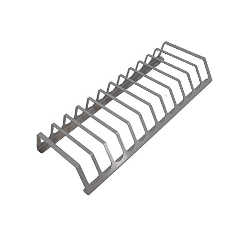 tradeNX - Soporte de costillas para barbacoa | spare ribs | BBQ Rib Rack | macizo | acero Inoxidable