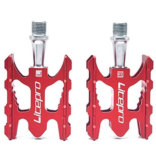 DXLANS Pedales MTB Pedal de Bicicleta de montaña MTB K3 Camino de Bicicletas Plegables de aleación de Aluminio Ultraligero 412 10,8 * 6,2 mm Teniendo Pedal Pedales Bicicleta (Color : Red)