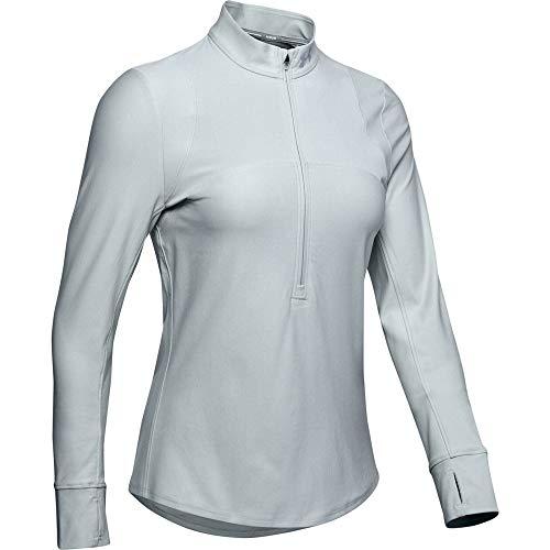 Under Armour Qualifier Half Zip Haut Femme Vert FR : M (Taille Fabricant : MD)
