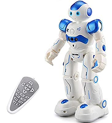 Eholder RC Robot Toy, Smart Robot Toys for Kids, Programmable Intelligent Walking Dancing Gesture Seinsing Remote Control Robot Gift for Boys, Blue