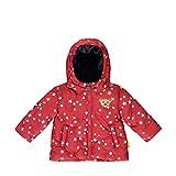 Steiff Baby-Mädchen mit süßer Teddybärapplikation Jacke, Rot (Tango RED 4008), 086