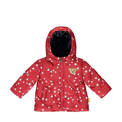 Steiff Baby-Mädchen mit süßer Teddybärapplikation Jacke, Rot (Tango RED 4008), 050