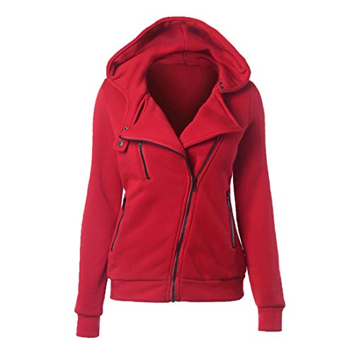 Jacke Damen Langarm Herbst Winter Tops Elegant Warm Hoodie Locker Taschen Reißverschluss Einfarbig Mitteldick- Sweatshirt Casual Wander Party Mantel Damen 3XL