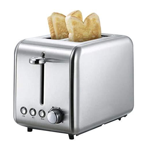 Toaster Grille-Sandwich pour Machine à Pain 2 PièCes en Acier Inoxydable LéGer Cuisson Recto-Verso à 6 Vitesses Commande à Un Bouton/Rebond Automatique/Anti-Carte/AntidéRapant