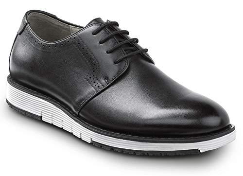SR Max Beaufort, Men's, Black/White, Dress Style Soft Toe Slip Resistant Work Shoe (12.0 M)