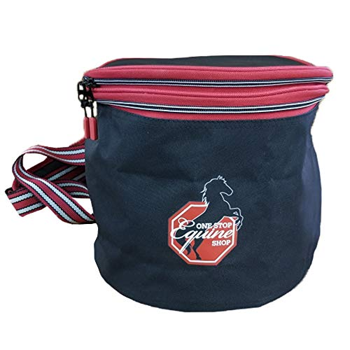One Stop Equine Shop Padded Helmet Bag Water Repellent with Shoulder Strap and Outer Pocket