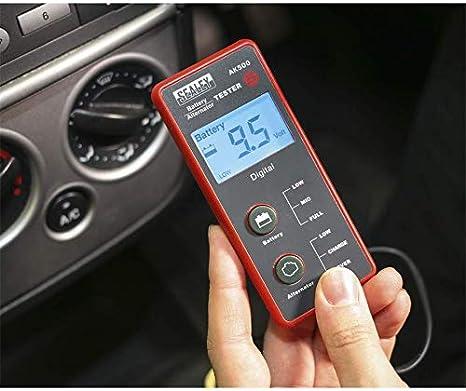 Sealey Ak500 Batterie Und Lichtmaschine Tester 12 V Lcd Bildschirm Baumarkt