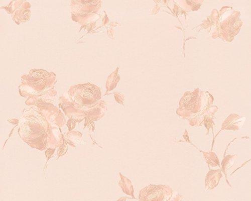 A.S. Création vliesbehang behang bloemen 10,05 m x 0,53 m blauw bont crème Made in Germany 906915 9069-15