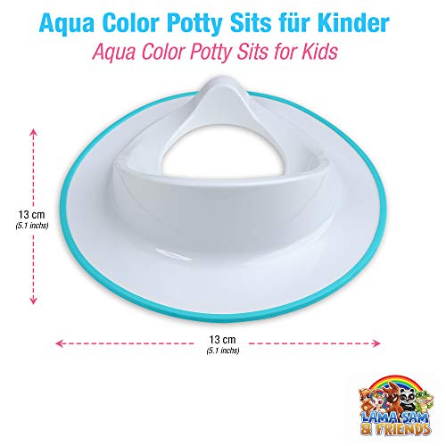 Asiento de inodoro para niños pequeños. blanco Color blanco con borde...