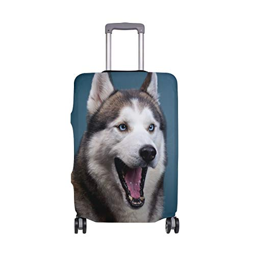Maleta Linda para el Viaje de Husky Dog Travelers Choice con Ruedas giratorias Maleta con Equipaje...
