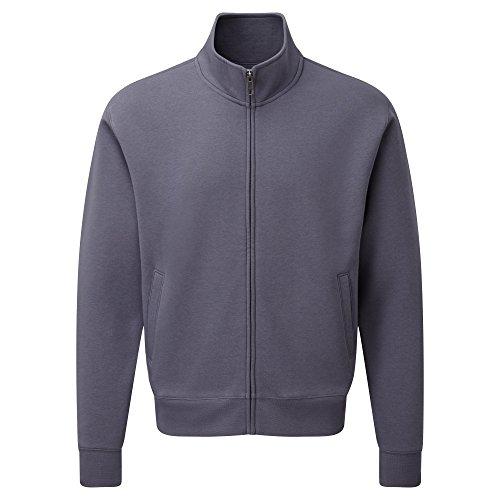 Russell Mens Authentic Full Zip Sweatshirt Jacket M Convoy Grey