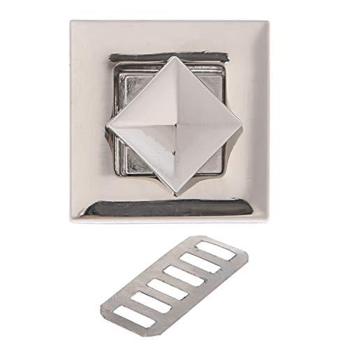 Furu Geldbörse Twist Turn Lock quadratische Form Frauen Star Metall DIY Schließe Turn-Twist Lock für Schultertasche Handtasche Fashion decorsquare S