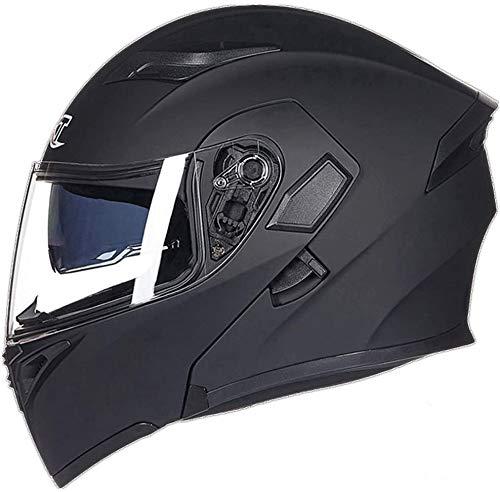 GXTシステムヘルメット バイク フルフェイス ジェット オートバイ ハーレー フリップアップ シールド付き 多色全9色 人気商品「PSCマーク付き」輸入品 (カラー8, XL(頭囲60-62cm))