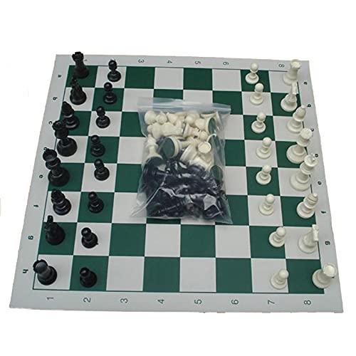 SASAU 65/75/95mm Piezas de ajedrez de Resina con Juego de ajedrez de ajedrez Juegos de ajedrez Medieval Conjunto con Juegos de Mesa de Tablero de ajedrez de 34 cm / 42 cm / 51cm