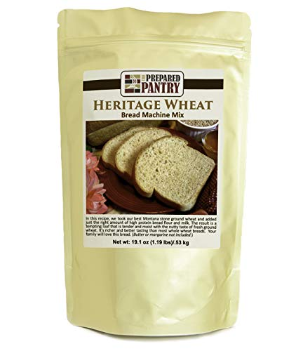 The Prepared Pantry Heritage Wheat Bread Mix; Single Pack; For Bread Machine or Oven