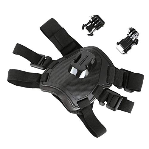 PiniceCore Dog Harness Mount Chest for Session Dbpower Action Camera Dog Harness Fetch Strap Belt Back Chest Mount with Adjustable Buckle Screw