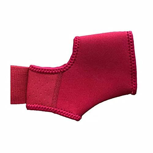 DBSUFV Protector de tobillo presurizado correas de tobillo deportivo manga de tobillo material de buceo de pie de tobillo anti-giro equipo de protección deportiva (rojo)