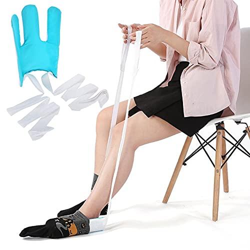WLKQ Aparato para Poner Calcetines Sock Aid Easy On Easy Off Ponte Tu Calcetín Sin Doblar para Personas Mayores Discapacitadas, Mujeres Embarazadas, Etc