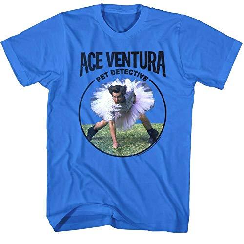 Ace Ventura Pet Detective Tutu Ballet en'S T Shirt Ji Carrey Coedy ovie Blue