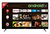 Telefunken XU65AJ600 55 Zoll Fernseher / Android TV (4K Ultra HD, HDR, Triple-Tuner, Smart TV, Bluetooth) [Modelljahr 2021]