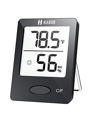 Habor Termómetro Higrómetro Medidor Interior Digital Termohigrómetro Profesional para Habitacion Temperatura Y Humedad Monitor De Confort En El Hogar Casa Oficina