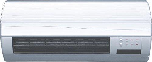MT - Calefactor electrico de pared mini. mando a distancia. 2 potencias: 1.000/2.000 w. funcion solo ventilador. 51,5x38x41 cms.