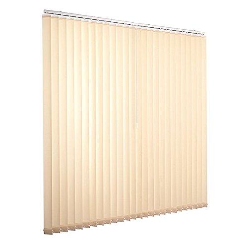 Ventanara Lamellenvorhang beige Vertikaljalousie 89mm inklusive Montagematerial 200 x 250 cm