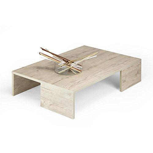 Mobili Fiver, Rachele Table Basse Chêne Naturel, 90.0 x 60.0 x 21.0 cm