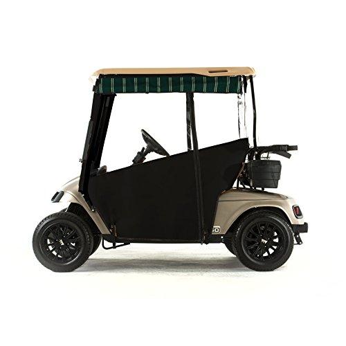 EZGO TXT Golf Cart PRO-TOURING Sunbrella Track Enclosure - Black-A