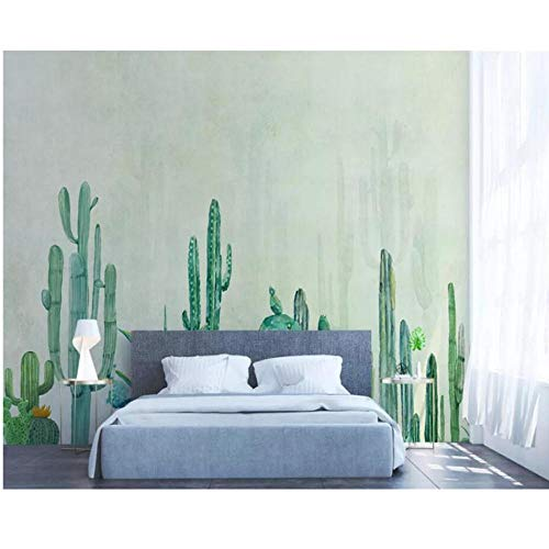 Zjxxm Custom Wallpaper Mural Hand-Painted Cacti Living Room Tv Children Room Background Wall Papier Peint Mural 3D Behang -140Cmx110Cm