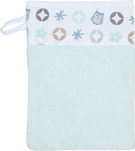 Bébé-jou 301132 Gant de toilette motif famille hibou