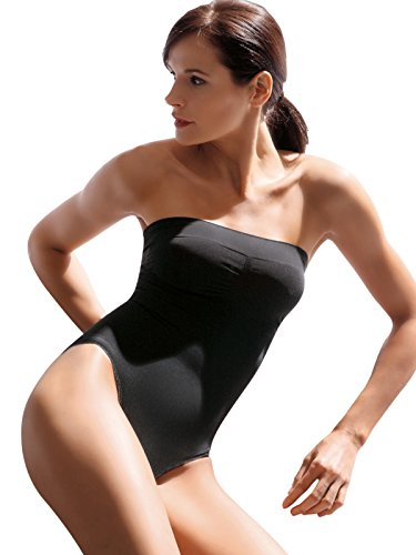 SENSI' Body Modellante Donna Microfibra Comfort Senza Cuciture e Spalline Sganciabili - Made in Italy