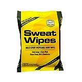 SweatZone Travel Body Wipes to Clean Sweat, Dirt, & Deodorize, 12 XL Wipes
