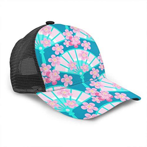 Gorra de béisbol Hombres Mujeres, Ventilador Floración Ciruela Sakura Diseño Camionero Ajustable Malla Verano Béisbol ventilado Sol Gorra Sombrero Sombrero de Golf