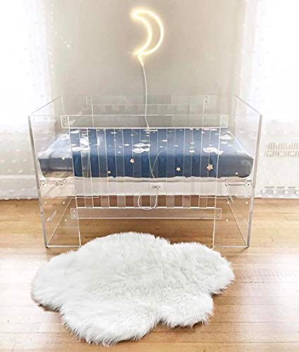 Product Image of the Machine Washable Faux Sheepskin White Cloud Area Rug 32' x 44' - Soft and Silky...