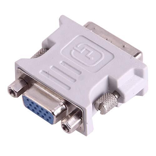 AUSKAS-DE LCD-Monitor-Kabel, DVI-I-Stecker Dual-Link 24 + 5 bis 15 Pin VGA-Buchse Video Monitor Adapter Converter (Grau) VGA-Kabel Display-Kabel (Farbe : Grey)