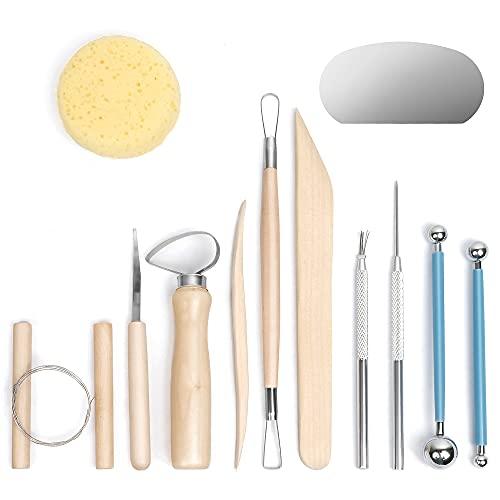 Nozomy Clay Tools,12PCS Pottery Clay Sculpting Tool Set