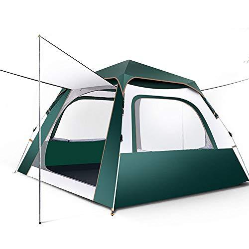 Rahmen Zelte Outdoor-Camping Camping-Zelt for 3-4 Personen Ideal für Camping Wandern Außen (Color : Dark Green, Size : Silver Glue)