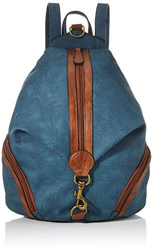 Rieker Damen Rucksackhandtasche H1051, Blau (Tinte/nuss-antik), 400x160x330 cm