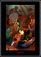 ポスター ジャスティン ブア Jazz Quintet 額装品 アルミ製ハイグレードフレーム(ブラック)