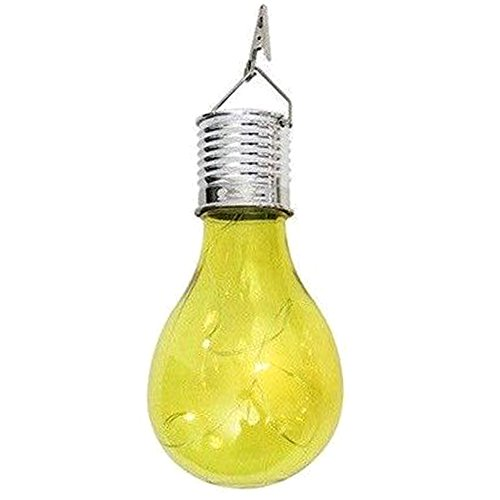 Solar Bulb Decoration Home Night Durable Low Consumption Outdoor Patio Copper Wire sy Install Garden Energy Saving Portable(Yellow1pc)