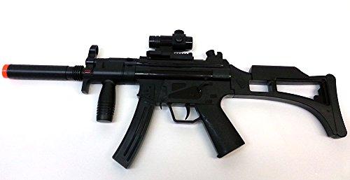 Brigamo, mitragliatrice-giocattolo elettrica MP5,modello: 08010, inclusii rumori degli spari (versione in lingua tedesca)