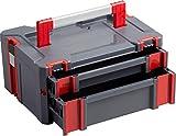 Connex Systembox - Mit zwei Schubladen - 13,5 Liter Volumen - 80 kg Tragfähigkeit - Individuell...
