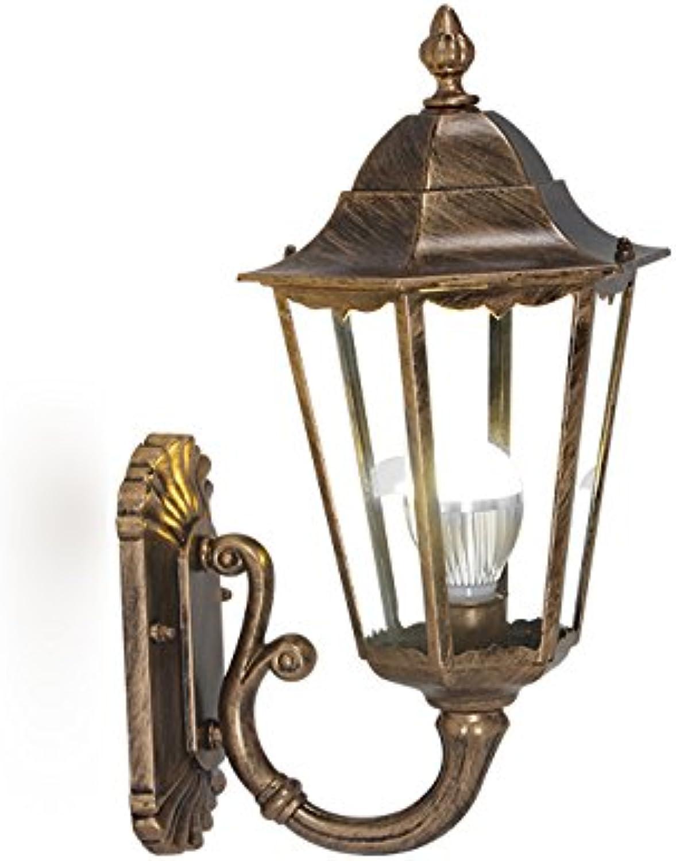 Modeen Tradition Antike Victoria Lantern Glass Auenwandleuchte American Villa Ganglichter Garten Wasserdichte Wandleuchte Europische Balkon Licht LED Wandleuchte E27 Dekoration Beleuchtung