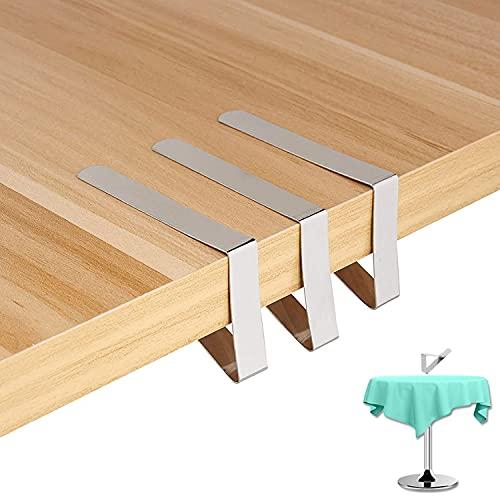 12 Piezas Clips de Acero Inoxidable Mantel Pinza, Sujeta manteles Plana Tablecloth Clips para Mesas para Casa, Restaurante Bodas Fiestas Picnics