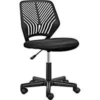 Yaheetech Armless Mid Back Mesh Office Chairs