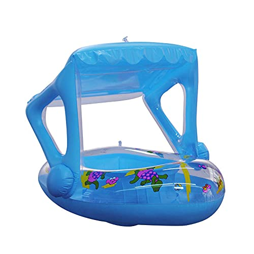 ZGY Sun Shade Water Toy Inflable Dinosaurio Canopy Barco Paseo Niños Infantil Piscina Asiento