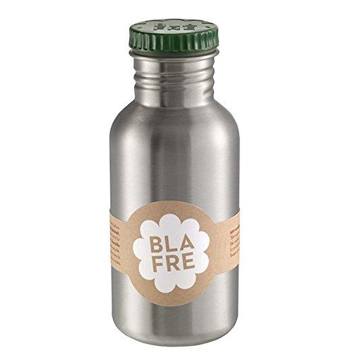 Blafre Trinkflasche aus recyceltem Edelstahl, 500 ml, dunkelgrün – klassisches Design und eine super Möglichkeit, Wegwerf zu vermeiden, Kunststoff 4556